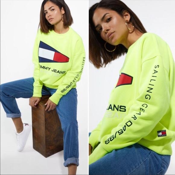 Tommy Hilfiger 90s sailing neon sweatshirt